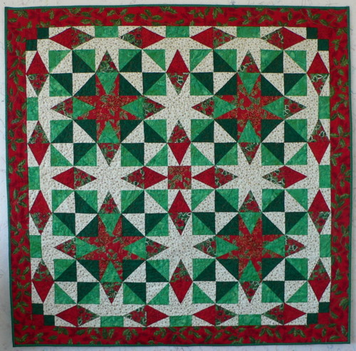 Quilt Pattern For Christmas Wreath : Serendipity Patchwork & Quilting : Festive Quilts: Christmas Star Wreaths