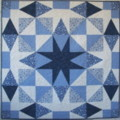 Blue Single Star Wreath by Brenda Smith